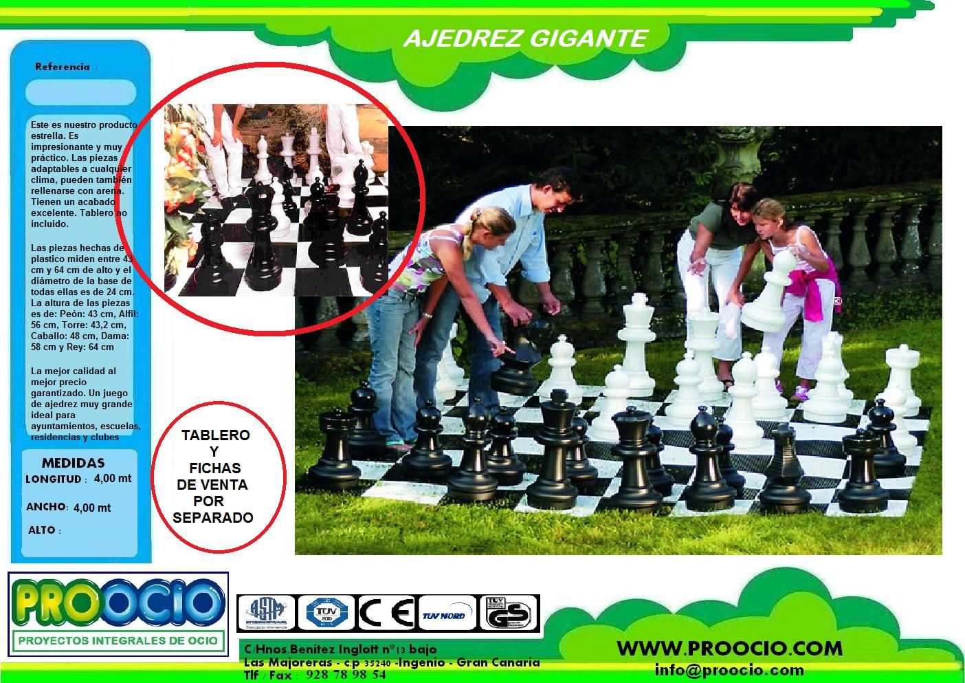 Ajedrez gigante pvc parques infantiles en canarias for Ajedrez gigante jardin